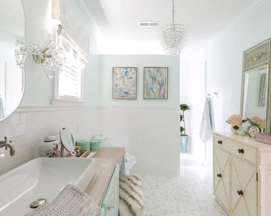 shabby-chic style bathroom design ideas, remodels & photos