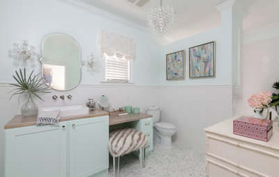 Room of the Day: Whimsy and Farmhouse Style in a Teen's Bathroom