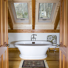 Traditional Bathroom by Habitat Post & Beam, Inc.