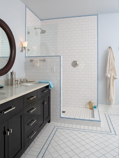 Lovely Subway Tile Shower With Accent | Houzz FY68
