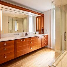 Contemporary Bathroom by Louis Cherry, FAIA Architect