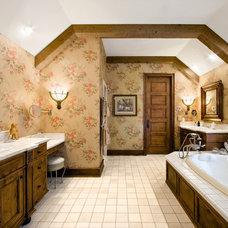 Farmhouse Bathroom by Robert J Erdmann Design, LLC