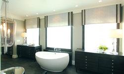 Robeson Design Beautiful Master Bathroom Storage Solutions Using Custom Furnitur
