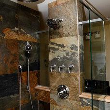 Eclectic Bathroom by Robin Hiken Interiors