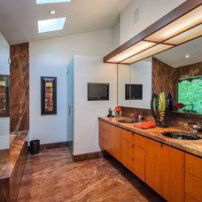 Modern Bathroom by Dennis Mayer, Photographer