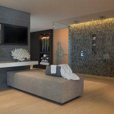 Contemporary Bathroom by Aria Design Inc