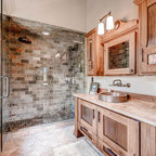 Ranch At Goldenview Rustic Bathroom Denver By