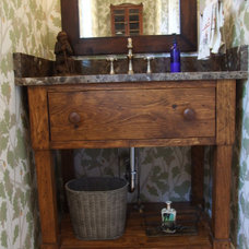 Rustic Bathroom by Timberdoodle, Inc.
