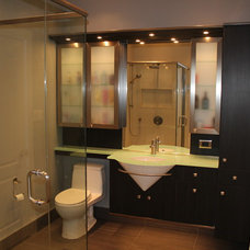 Contemporary Bathroom by FGM CONTRACTING LTD
