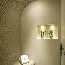 Bathrooms at strawbale