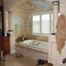 Traditional Bathroom by Doreen Schweitzer Interiors, Ltd.