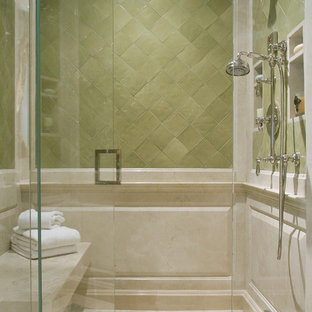 Photo of a mediterranean bathroom in Los Angeles with mosaic tiles.