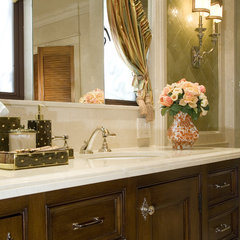 mediterranean bathroom by KellyBaron
