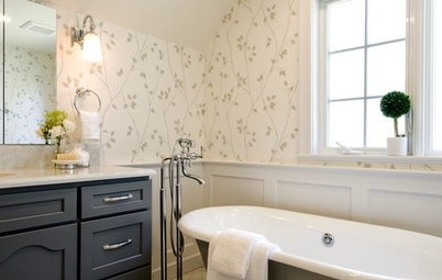 Before and After: A Bigger Bath for a Family's Tudor-Style Home