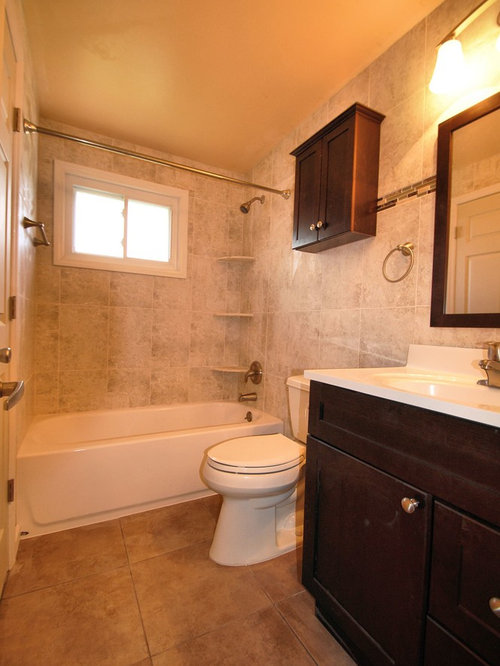 Orange bathroom design ideas renovations photos with for Dark wood bathroom designs