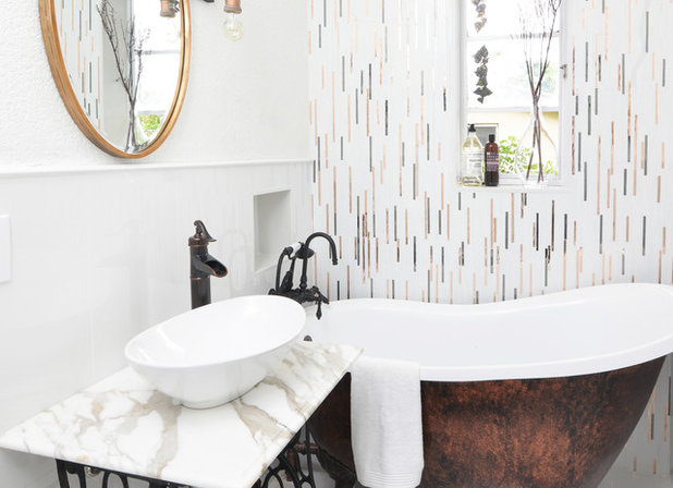 Eclectic Bathroom by Nicole White Designs Interiors LLC