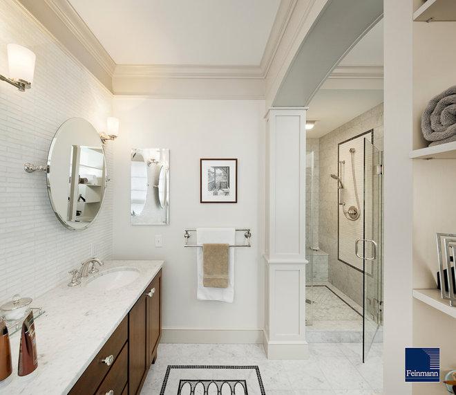 Traditional Bathroom by Feinmann, Inc.