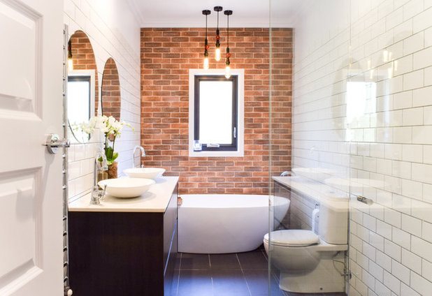 Transitional Bathroom by Kitchens by Matric