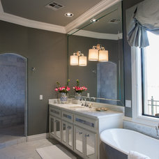 Transitional Bathroom by The Peak of Tres Chic Interior Design