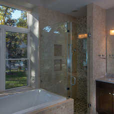 Eclectic Bathroom by Greenbelt Construction