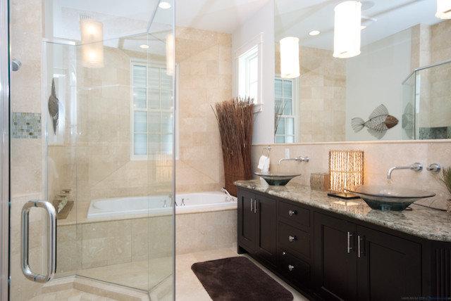 Modern Bathroom by Keystone Millworks Inc
