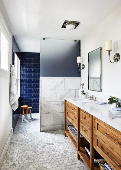 Coastal Bathroom by Convene Architecture