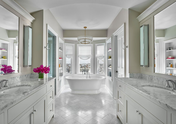 Transitional Bathroom by Melissa Lewis Interiors
