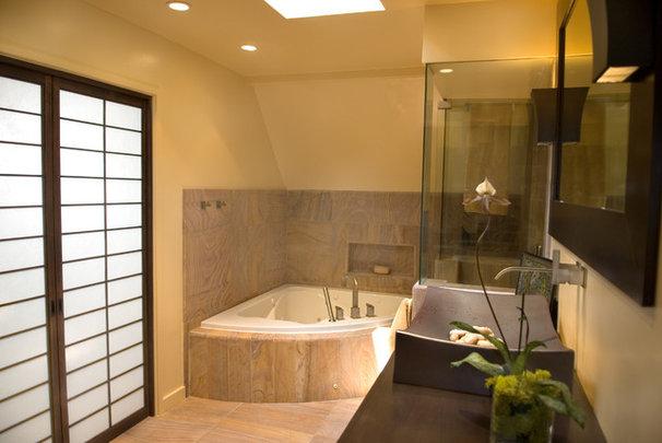 Asian Bathroom by Ashley Roi Jenkins Design, LLC
