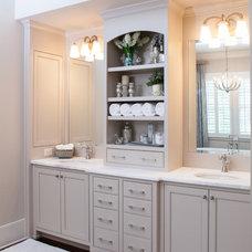 Farmhouse Bathroom by Keystone Millworks Inc