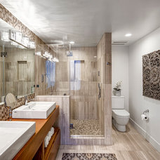 Contemporary Bathroom by HLS Remodeling and Design Inc.