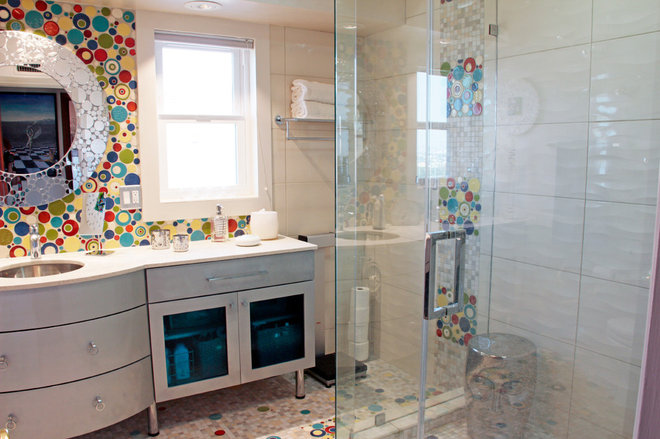 Bathroom ROTD Bubble Tile by homeowner Jan Ferris