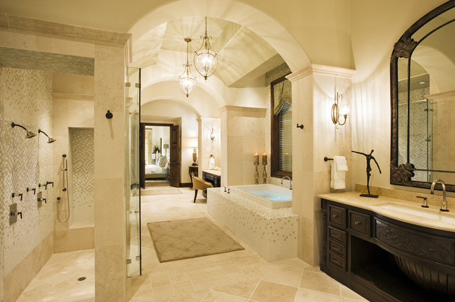 Mediterranean Bathroom by Cornerstone Architects