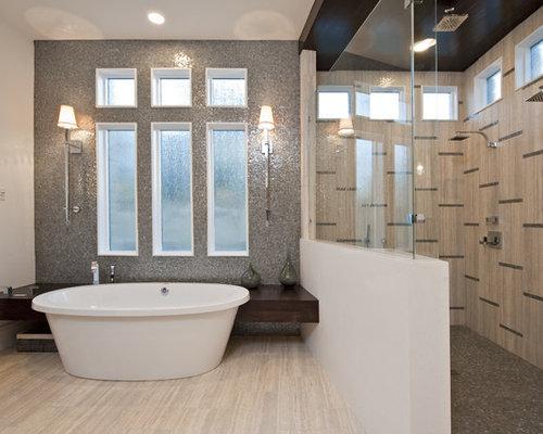 Trendy Mosaic Tile Bathroom Photo In Austin