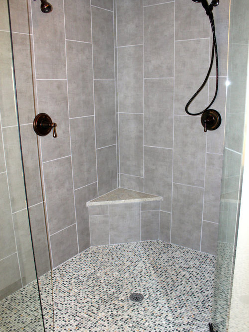 Laying shower floor tile