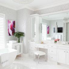 Transitional Bathroom by Marilee Bentz Designs, Inc.