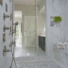 Contemporary Bathroom Royal Stone & Tile Carrara Marble Bathroom