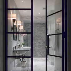 Transitional Bathroom by Ryan Street & Associates