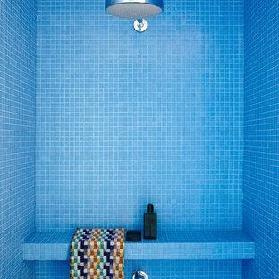 Idéer för att renovera ett funkis badrum, med mosaik