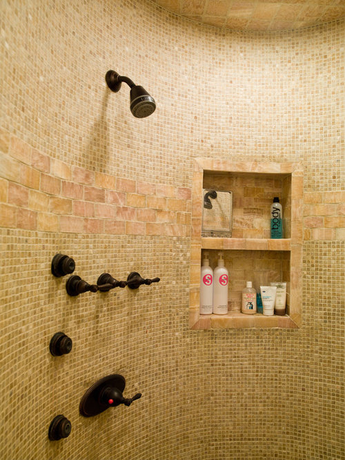 Inspiration For A Contemporary Mosaic Tile Bathroom Remodel In Oklahoma City