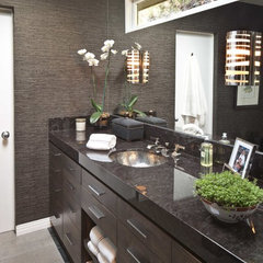 contemporary bathroom by Wood Construction