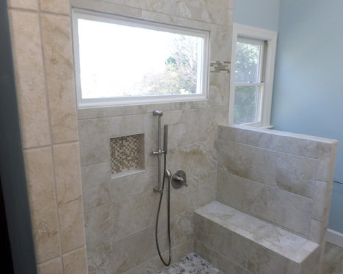 White 4x4 tile home design ideas pictures remodel and decor for 4x4 bathroom ideas