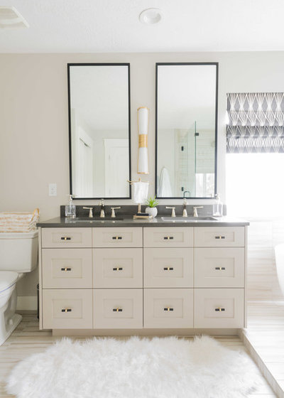 Transitional Bathroom by Andrea West Design
