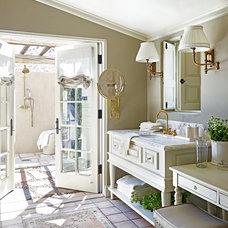 Mediterranean Bathroom by David Michael Miller Associates