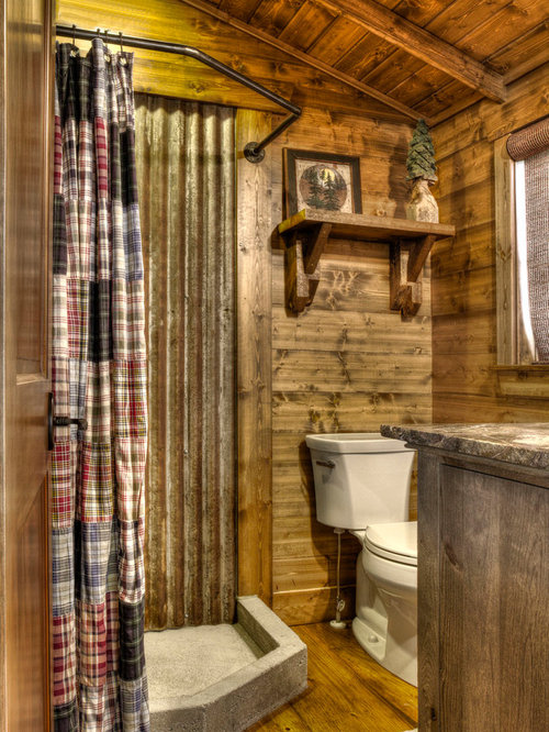Corrugated metal shower home design ideas pictures remodel and decor Rustic style attic design a corner full of passion