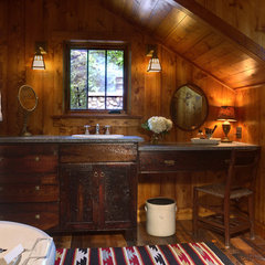 eclectic bathroom by Michelle Fries, BeDe Design, LLC