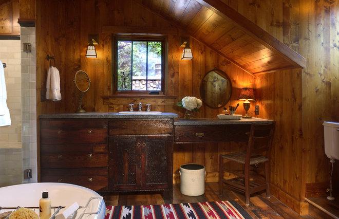 Rustic Bathroom by Michelle Fries, BeDe Design, LLC