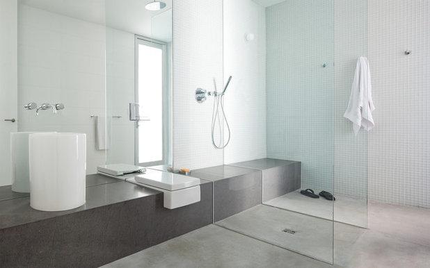 moderne salle de bain by splyce design - Faux Plafond Salle De Bain Moderne