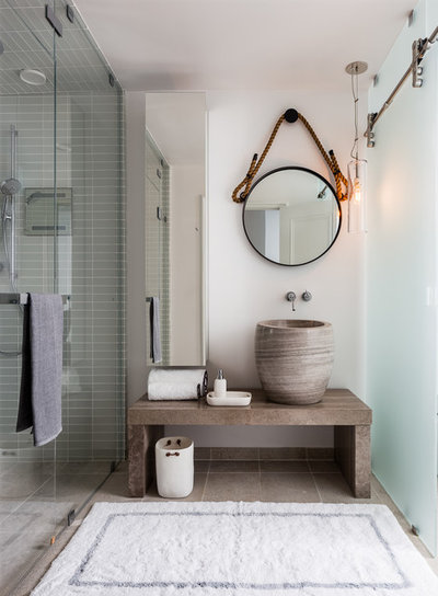 Beach Style Bathroom by Applegate Tran Interiors