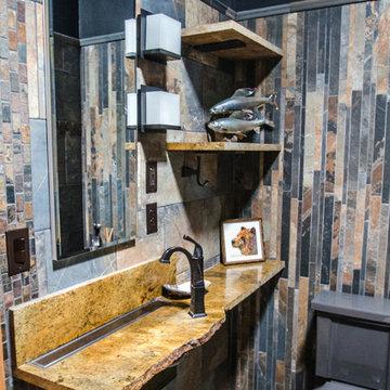 Rustic ADA accessible bathroom