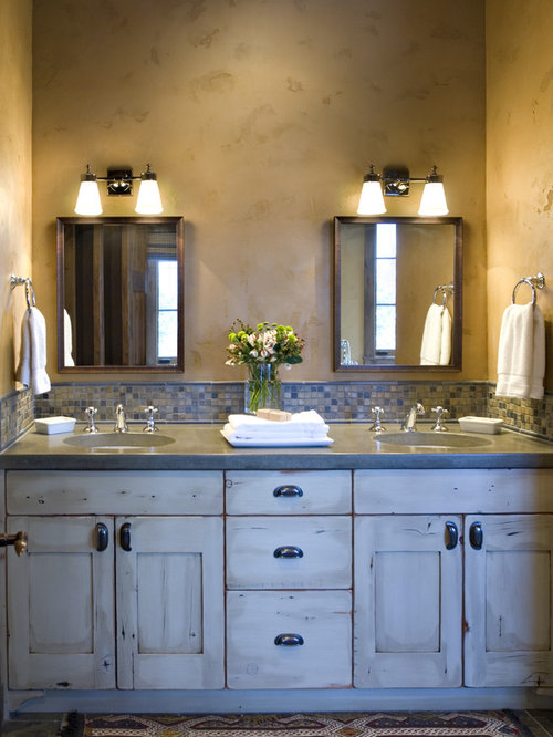 Bathroom Joint Compound faux finish with joint compound | houzz